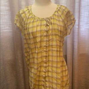 Adorable Lucy plaid print top